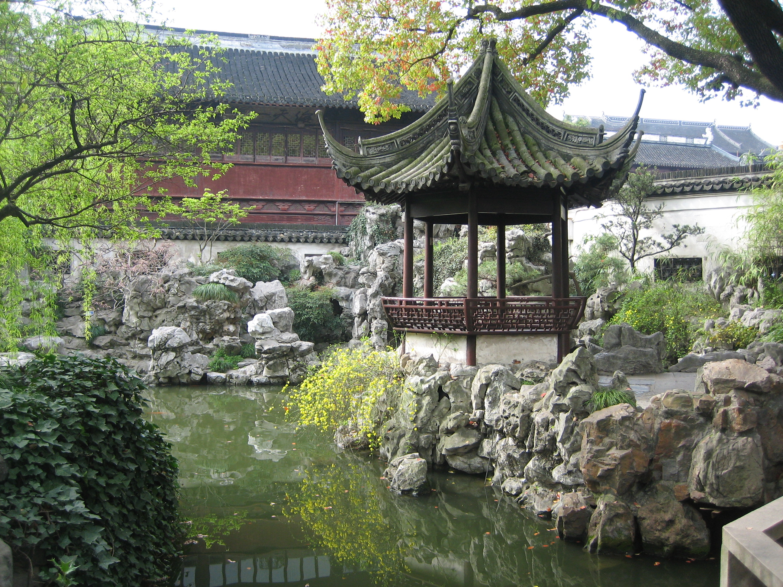 Yuyuan Garden Ancient Chinese Architecture in Old City Shanghai
